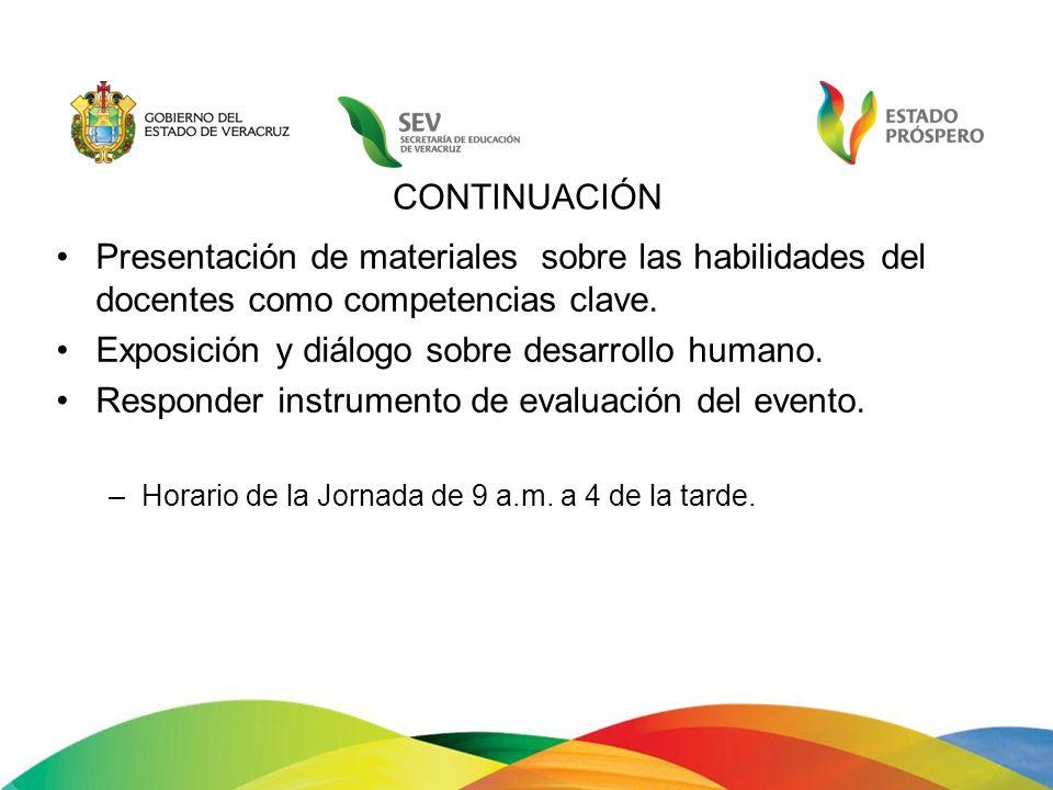 Exposición y diálogo sobre desarrollo humano.