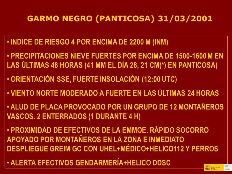 GARMO NEGRO (PANTICOSA) 31/03/2001