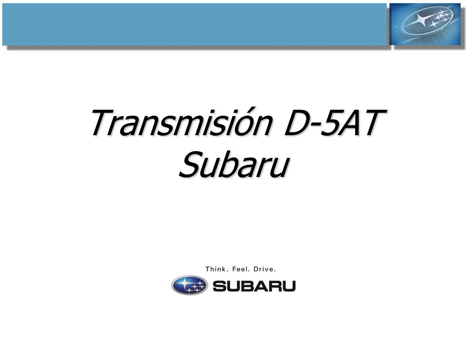 Transmisión D-5AT Subaru