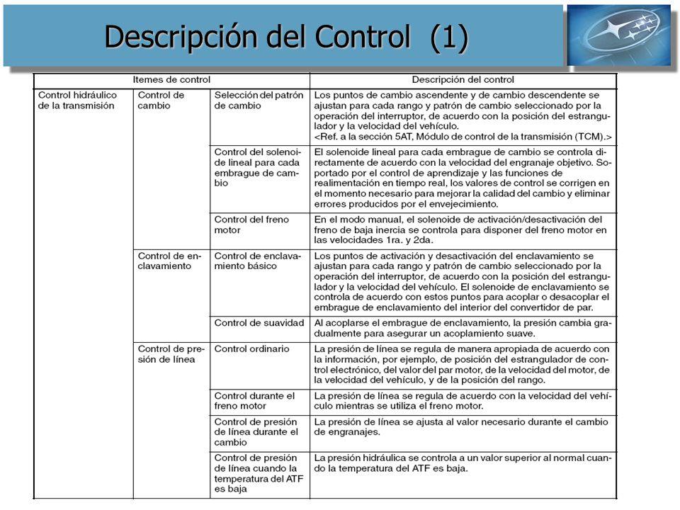 Descripción del Control (1)