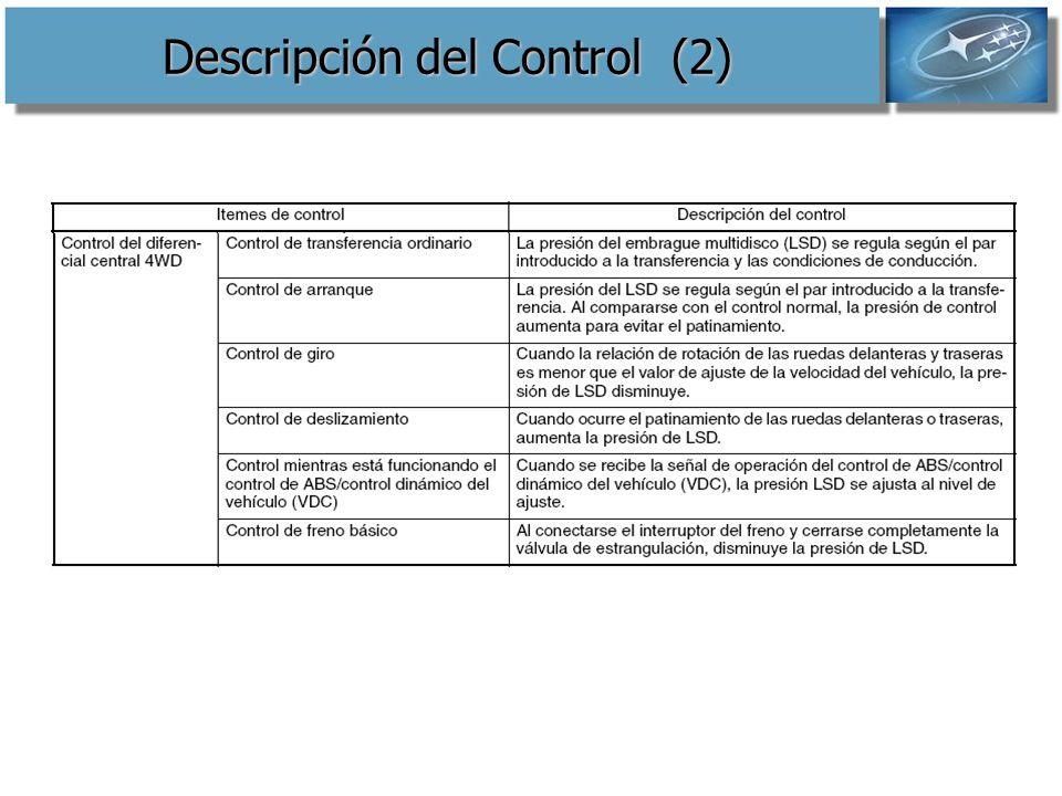 Descripción del Control (2)