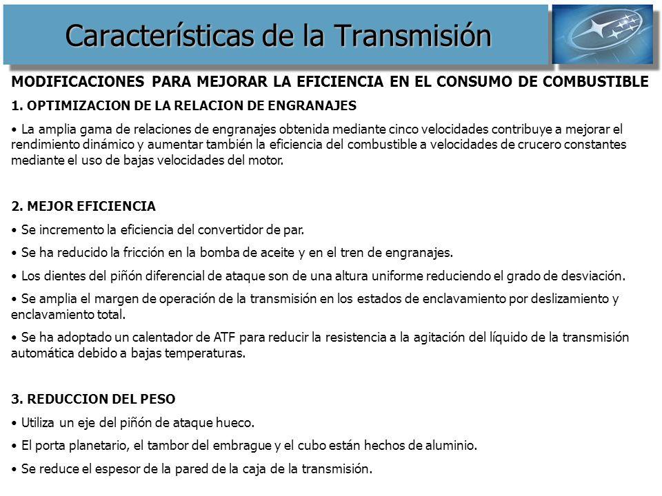 Características de la Transmisión