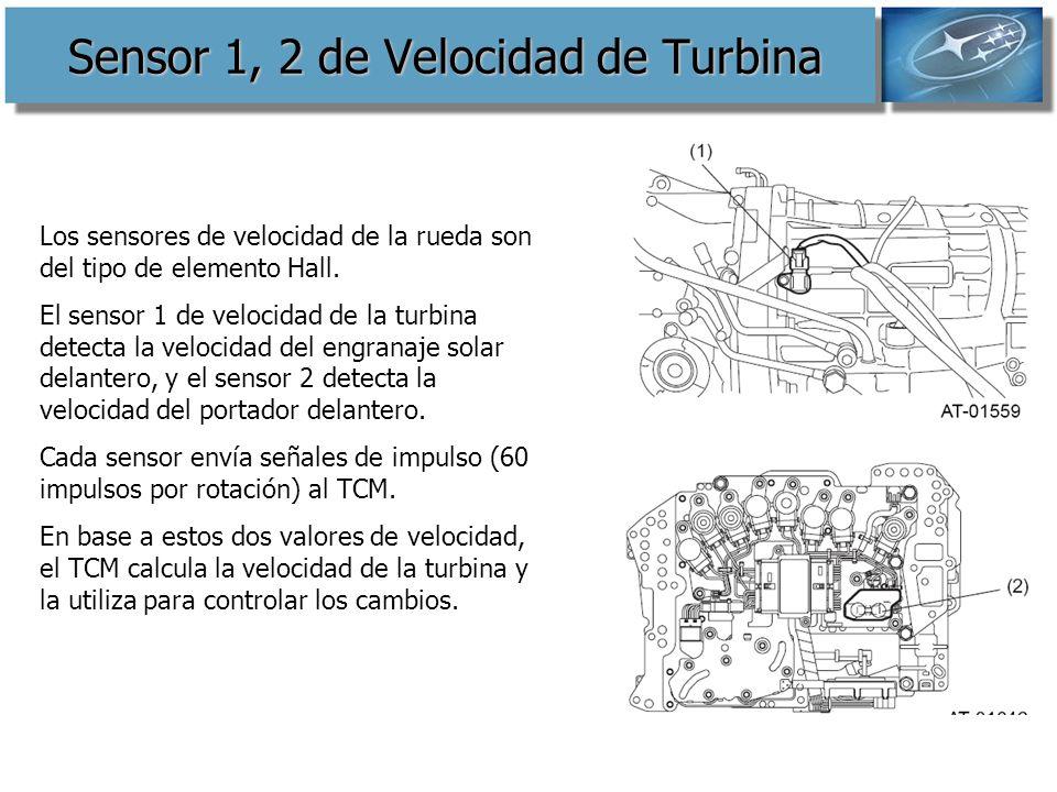 Sensor 1, 2 de Velocidad de Turbina