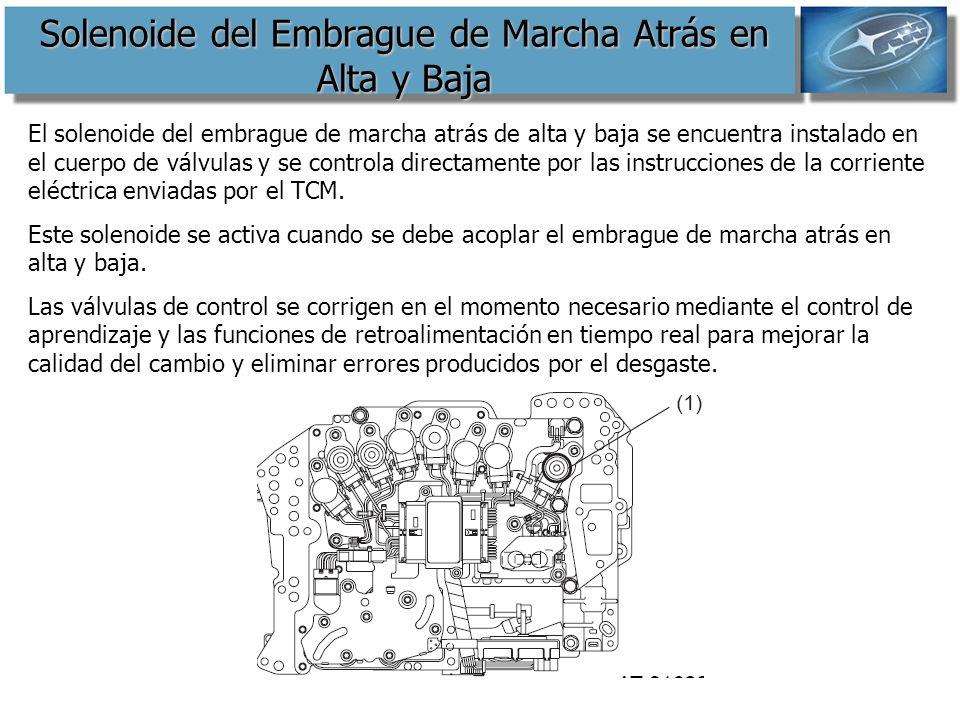 Solenoide del Embrague de Marcha Atrás en Alta y Baja