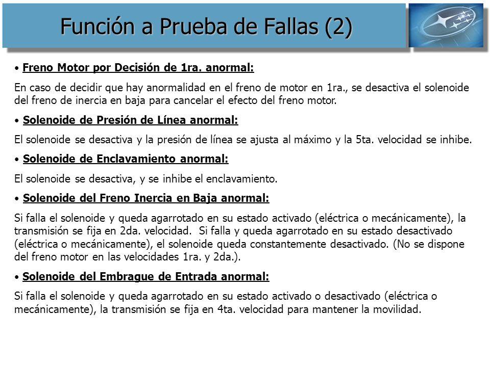 Función a Prueba de Fallas (2)