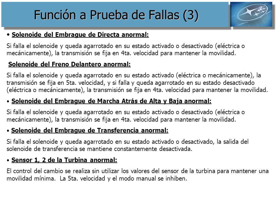 Función a Prueba de Fallas (3)