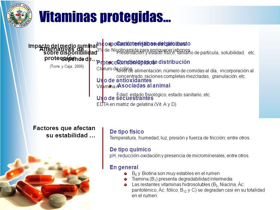 Vitaminas protegidas…