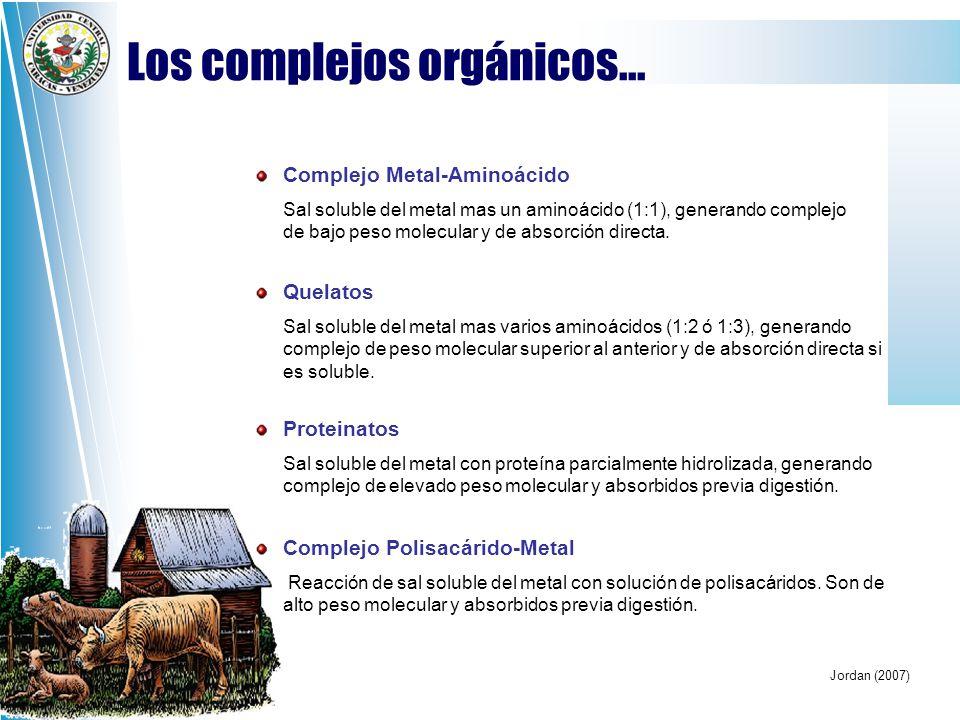 Los complejos orgánicos...