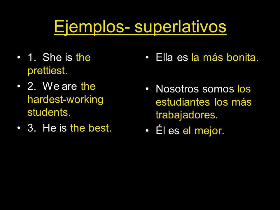 Ejemplos- superlativos