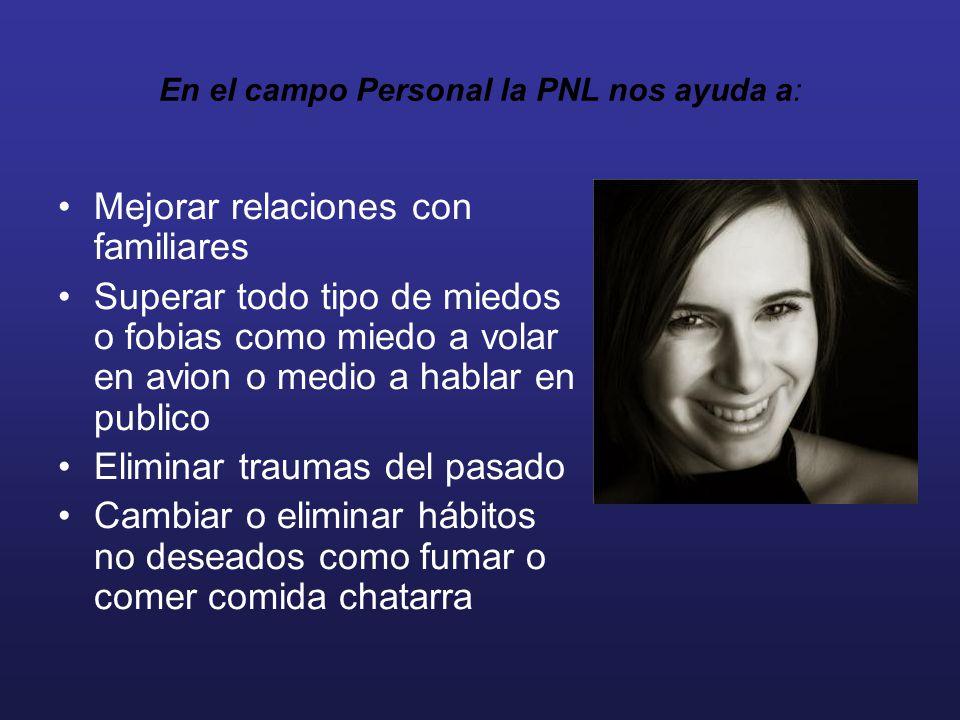 En el campo Personal la PNL nos ayuda a: