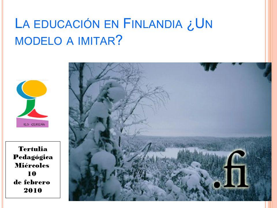 La educación en Finlandia ¿Un modelo a imitar