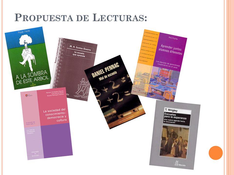 Propuesta de Lecturas: