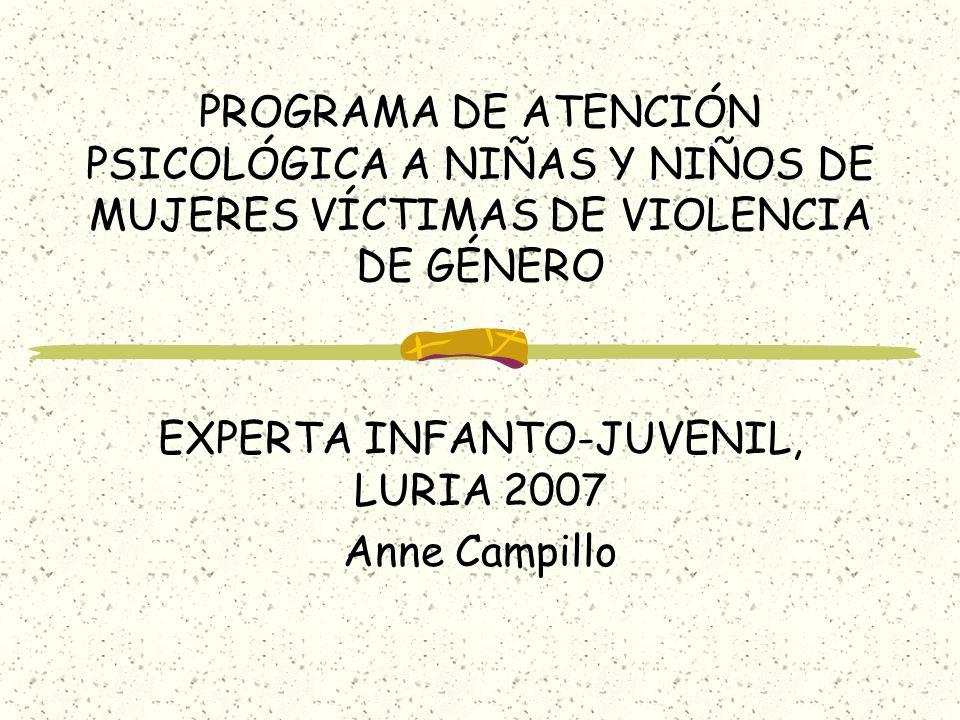 EXPERTA INFANTO-JUVENIL, LURIA 2007 Anne Campillo