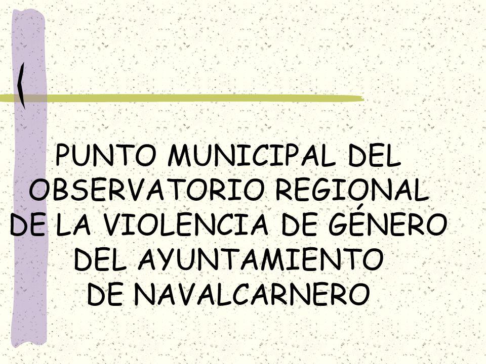 PUNTO MUNICIPAL DEL OBSERVATORIO REGIONAL DE LA VIOLENCIA DE GÉNERO DEL AYUNTAMIENTO DE NAVALCARNERO