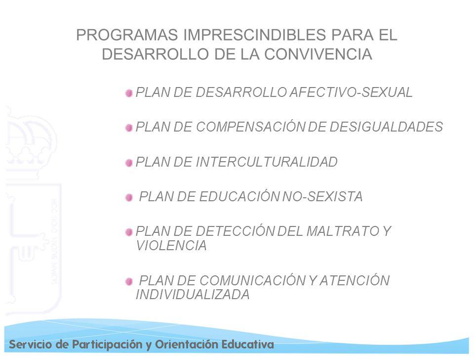 PROGRAMAS IMPRESCINDIBLES PARA EL DESARROLLO DE LA CONVIVENCIA