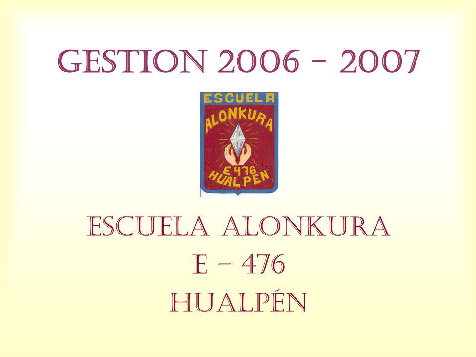 ESCUELA ALONKURA E – 476 HUALPÉN