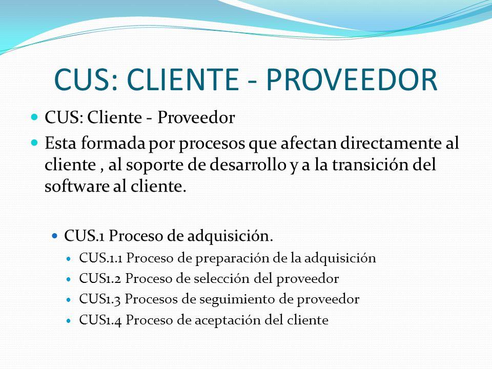 CUS: CLIENTE - PROVEEDOR