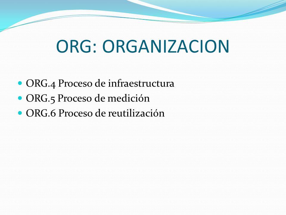 ORG: ORGANIZACION ORG.4 Proceso de infraestructura