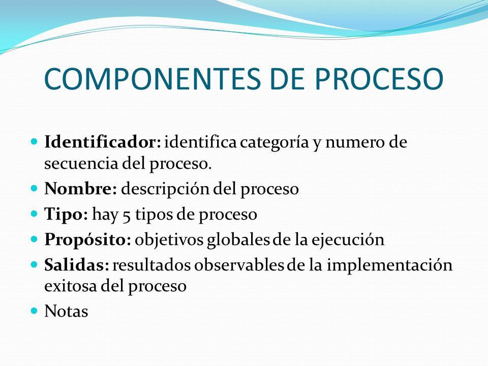 COMPONENTES DE PROCESO