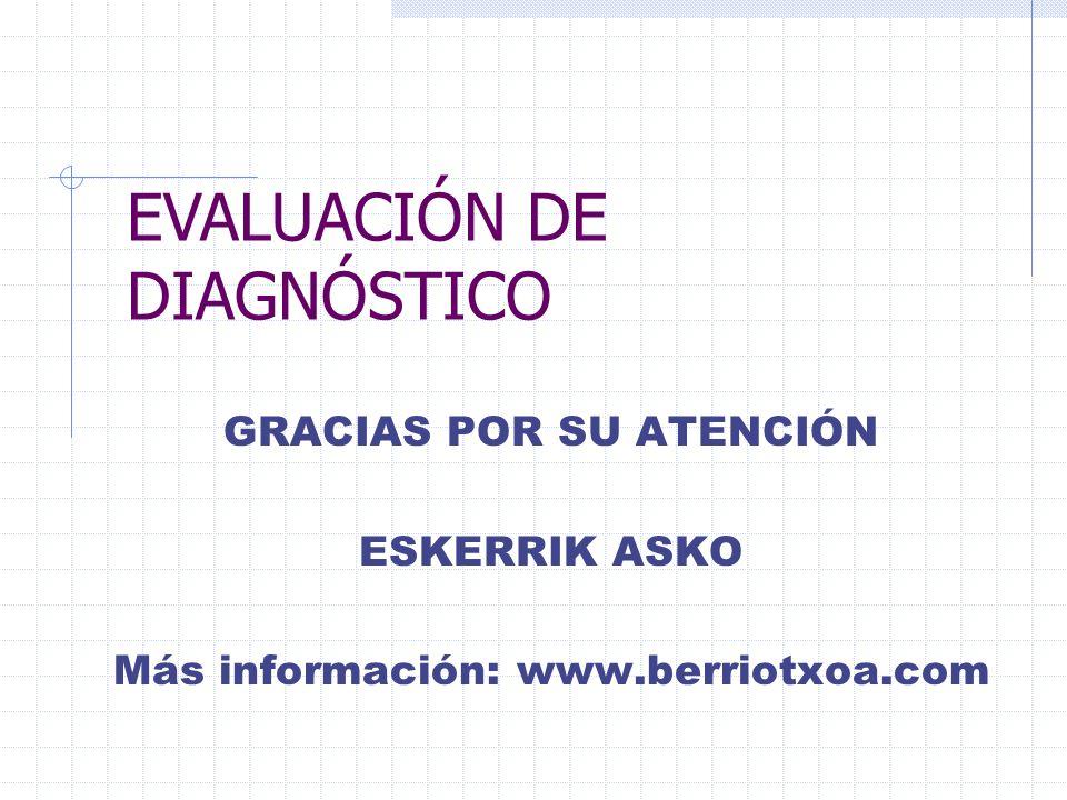 EVALUACIÓN DE DIAGNÓSTICO
