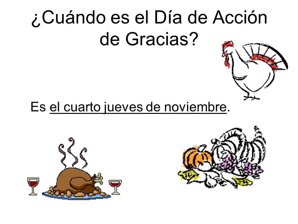 ¿Cuándo es el Día de Acción de Gracias