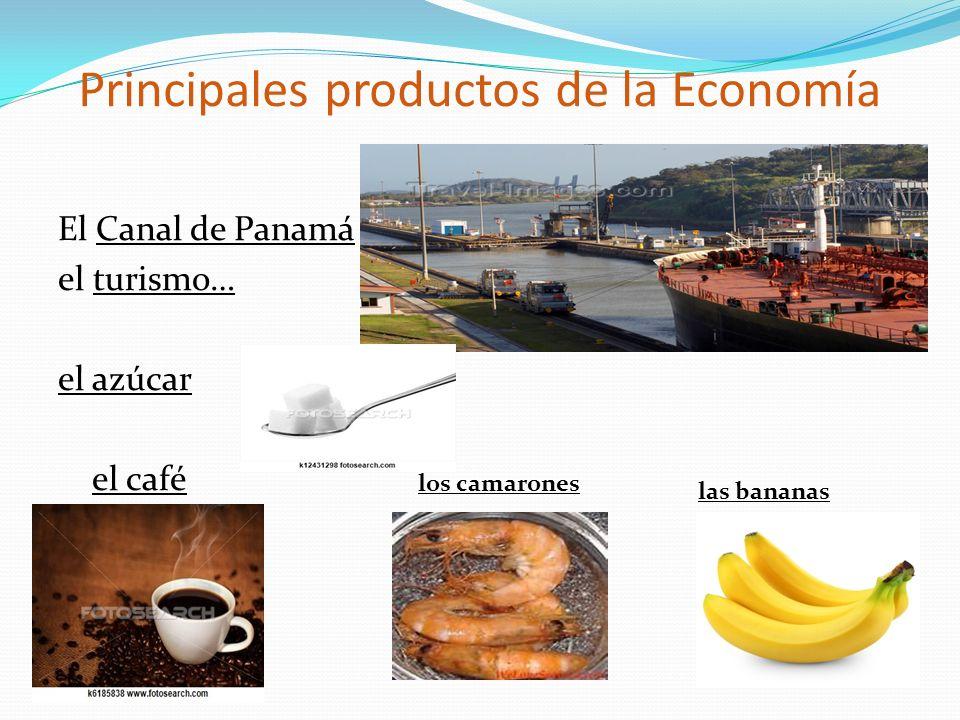 Principales productos de la Economía