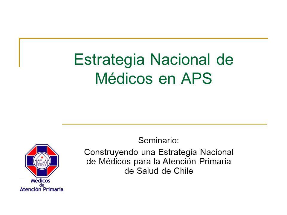 Estrategia Nacional de Médicos en APS