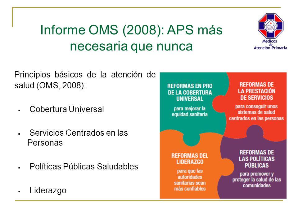 Informe OMS (2008): APS más necesaria que nunca