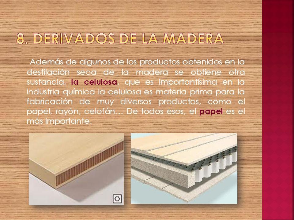 8. Derivados de la madera