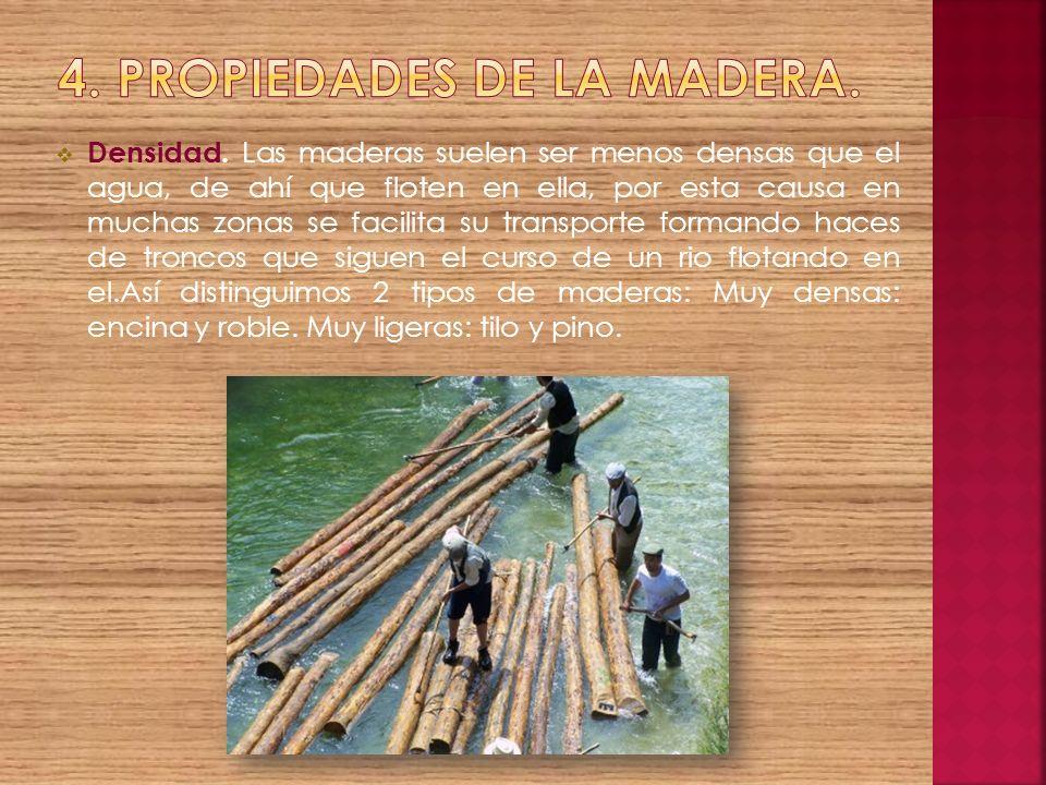 4. Propiedades de la madera.