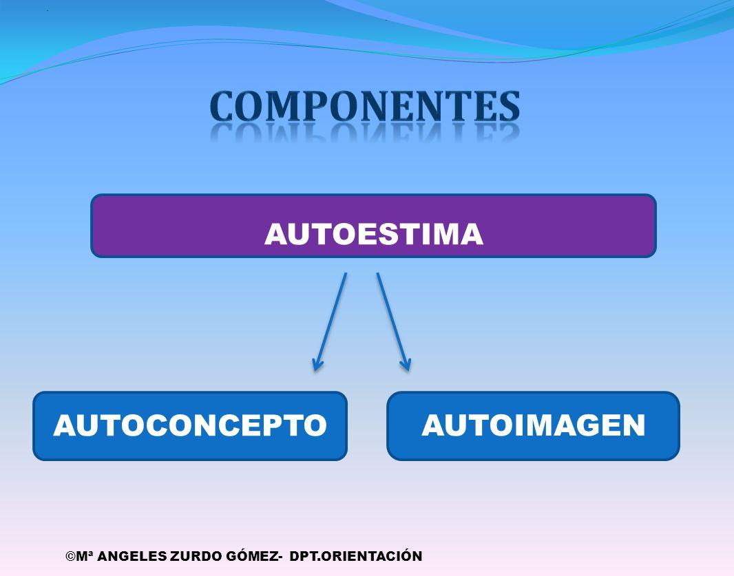 componentes AUTOESTIMA AUTOCONCEPTO AUTOIMAGEN