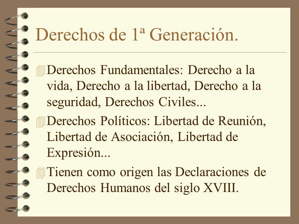 Derechos de 1ª Generación.