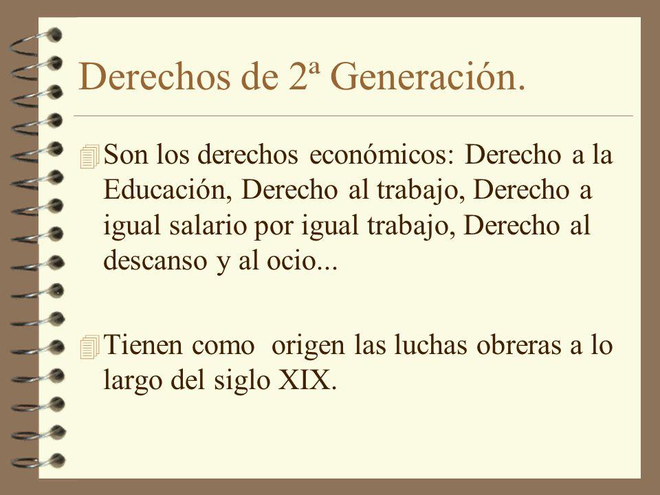 Derechos de 2ª Generación.