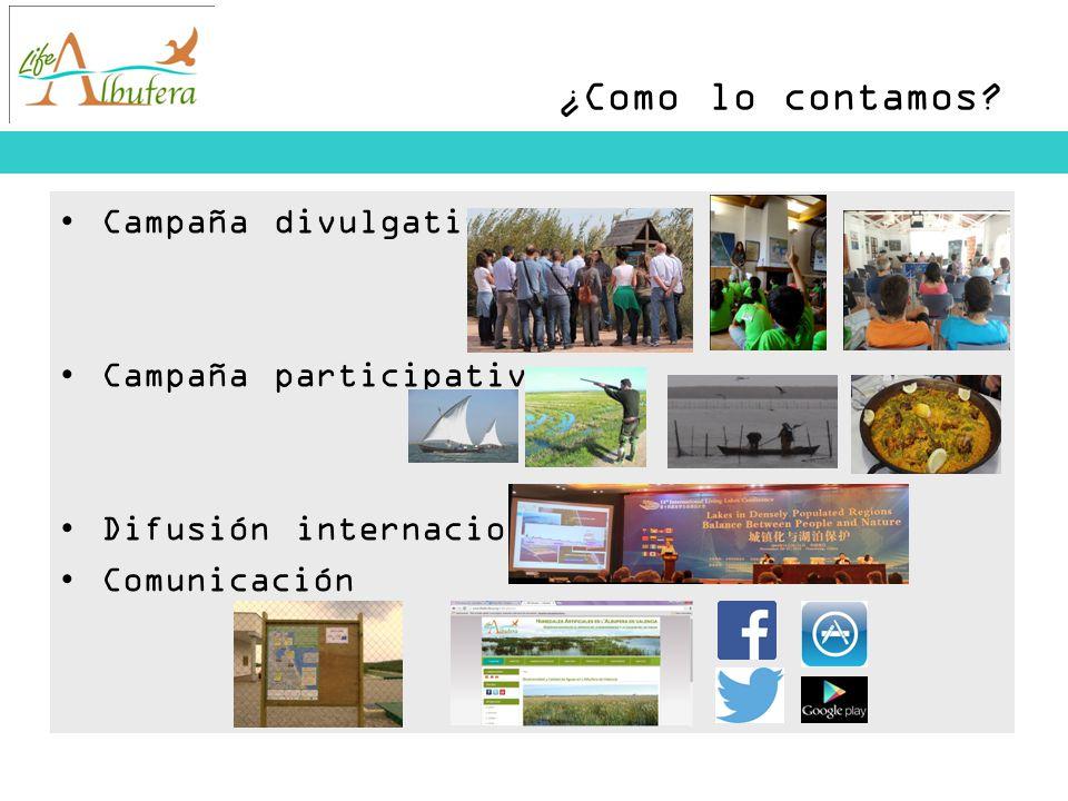 ¿Como lo contamos Campaña divulgativa (charlas municipios, universidadees, visitas de campo, visitas escolares, expo itinerante)