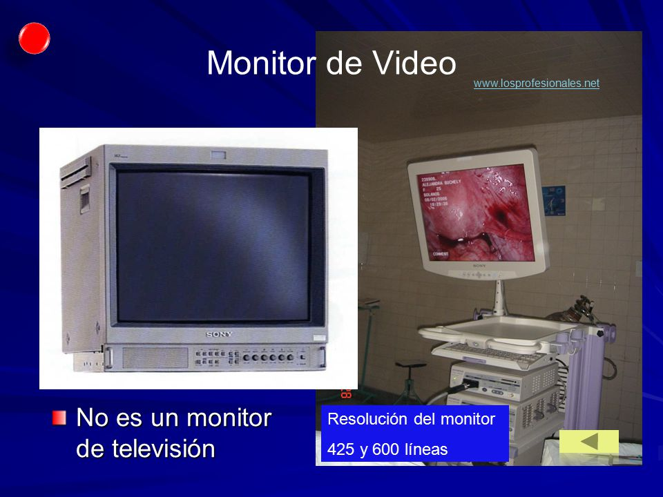 Monitor de Video No es un monitor de televisión Resolución del monitor