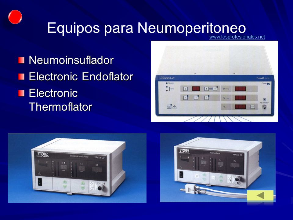 Equipos para Neumoperitoneo