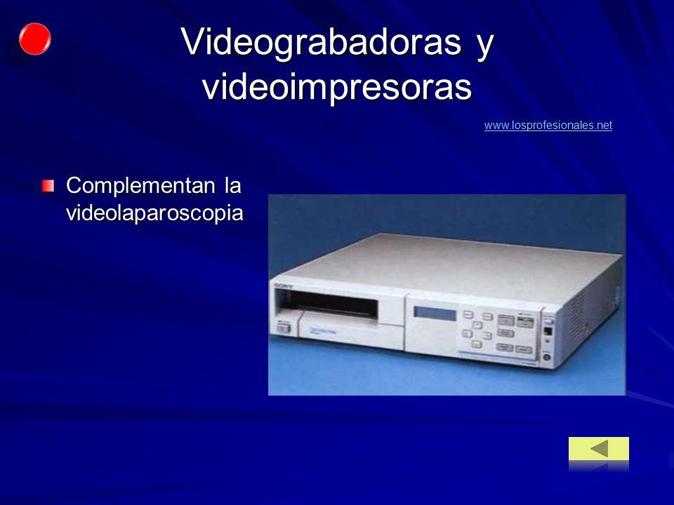 Videograbadoras y videoimpresoras