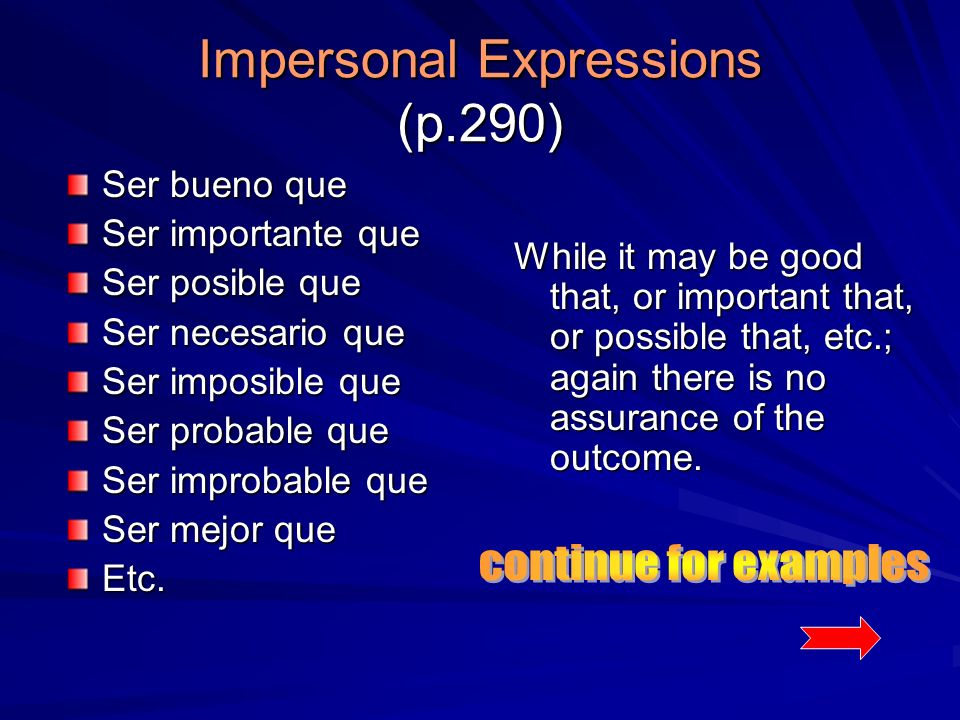 Impersonal Expressions (p.290)