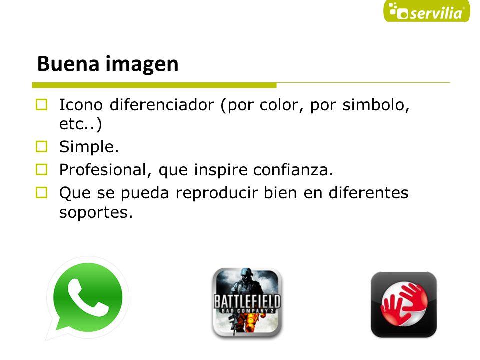Buena imagen Icono diferenciador (por color, por simbolo, etc..)