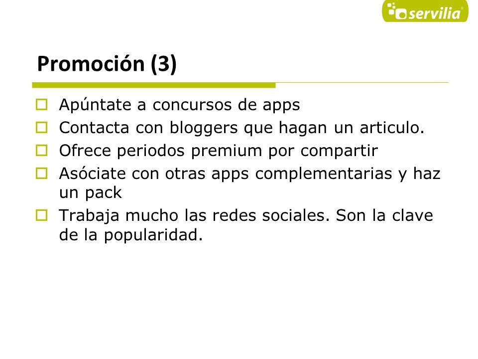 Promoción (3) Apúntate a concursos de apps