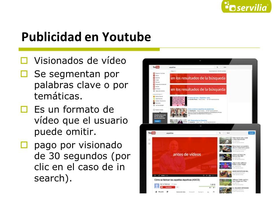 Publicidad en Youtube Visionados de vídeo