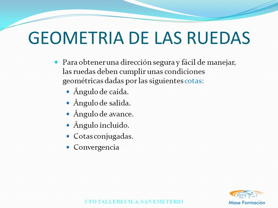 GEOMETRIA DE LAS RUEDAS