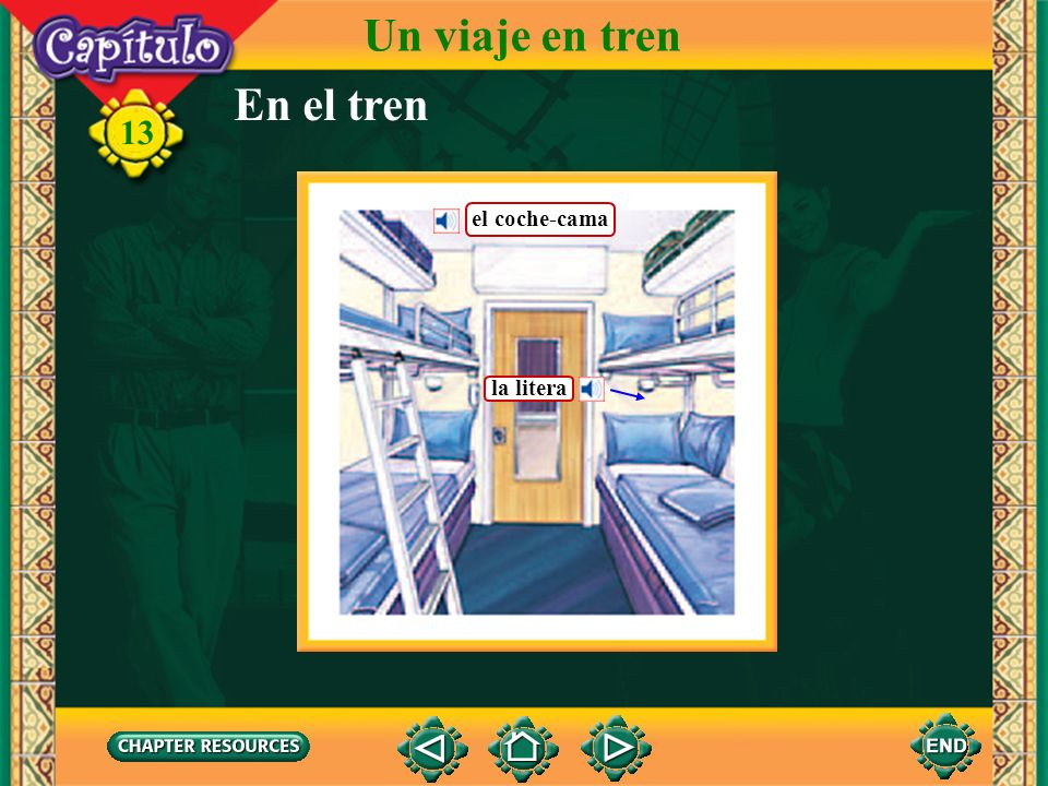 Un viaje en tren En el tren 13 el coche-cama la litera