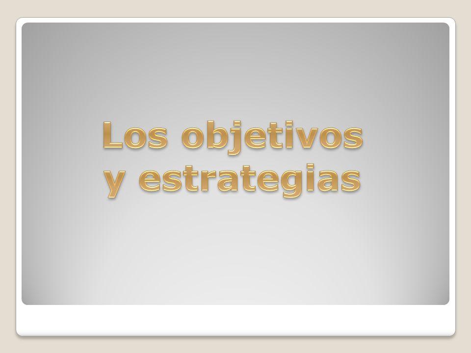 Los objetivos y estrategias
