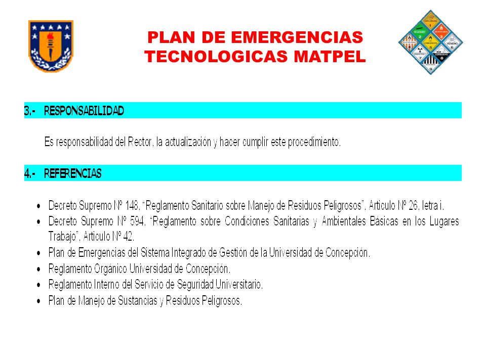 PLAN DE EMERGENCIAS TECNOLOGICAS MATPEL