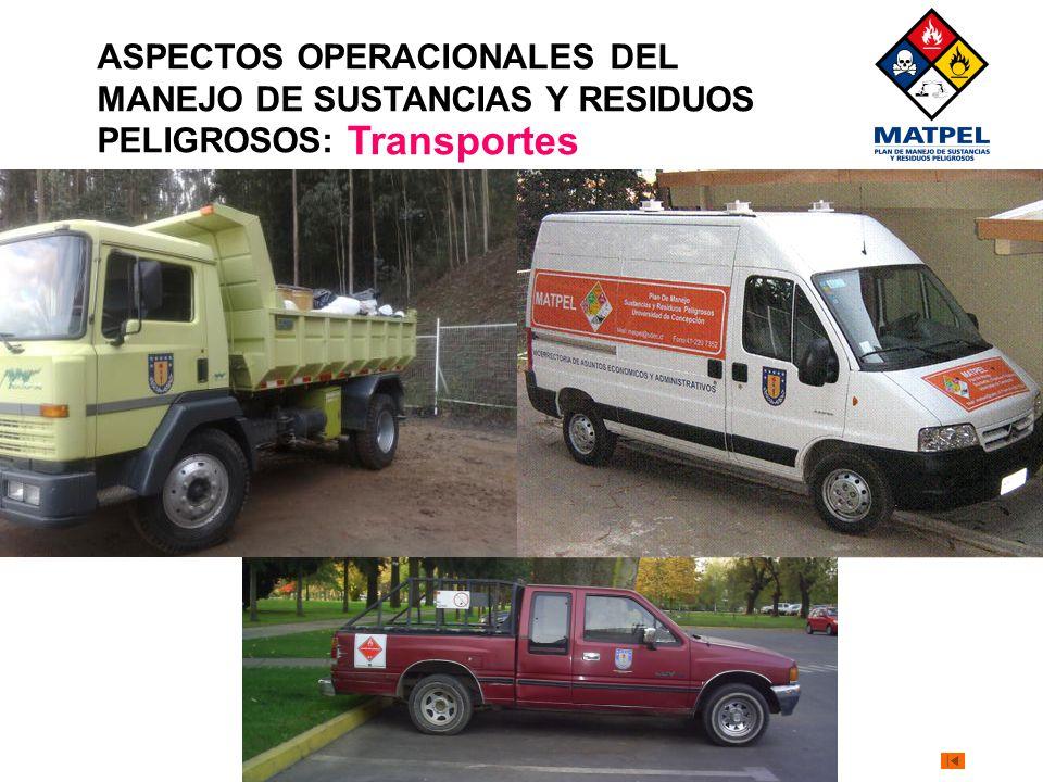 ASPECTOS OPERACIONALES DEL MANEJO DE SUSTANCIAS Y RESIDUOS PELIGROSOS: