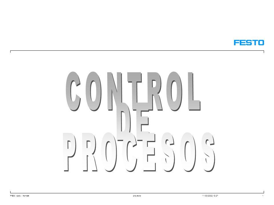 25/03/2017 CONTROL DE PROCESOS Aquilino Rodriguez - Festo Didactic