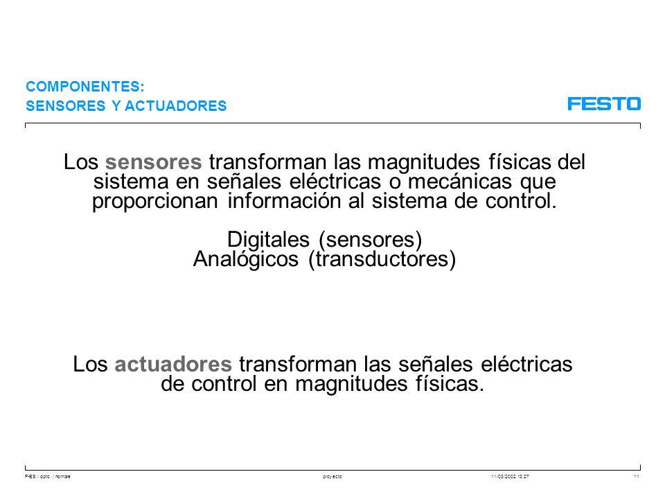 Analógicos (transductores)