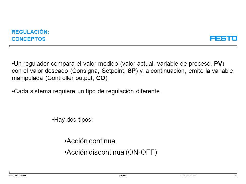 Acción discontinua (ON-OFF)