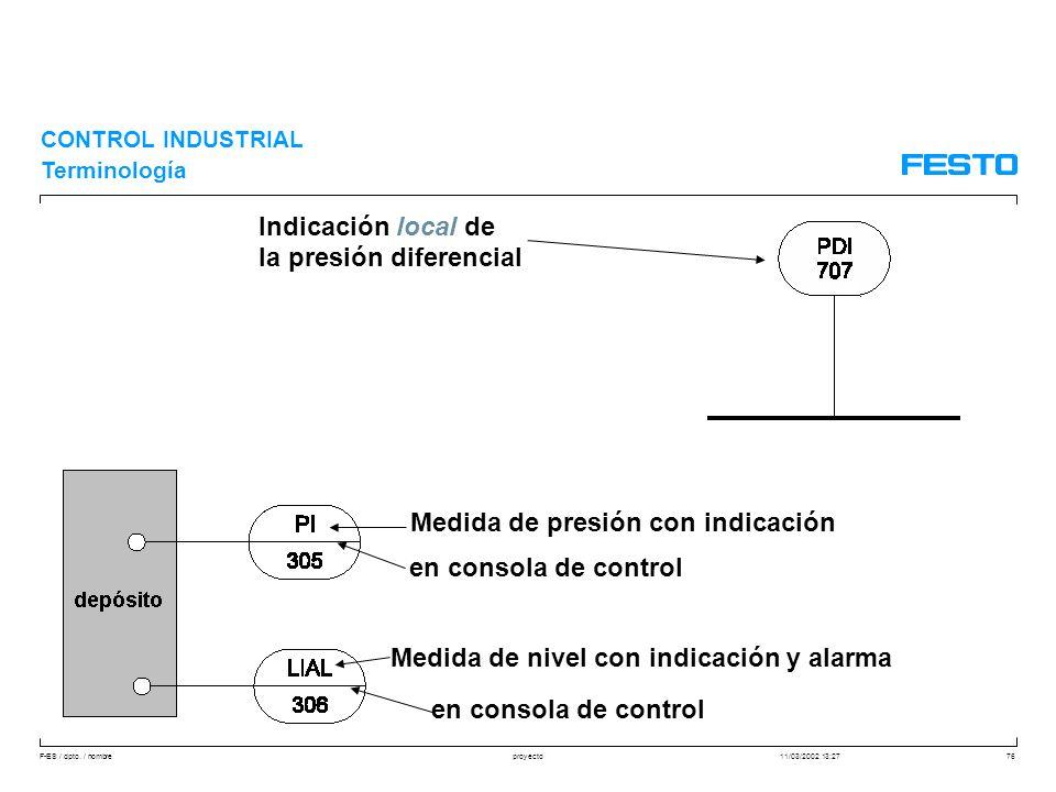 la presión diferencial